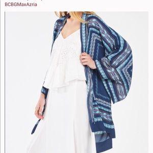 BCBGMaxAzria Tildie Geometric Print Kimono (S/XS)